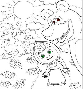 Из мультфильма маша и медведь